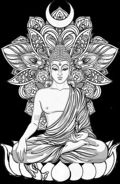 Dieses - Buddha - - Dieses – Buddha – You are in the right place about Dieses – Buddha – - Buddha Drawing, Buddha Painting, Buddha Art, Buddha Tattoo Design, Buddha Tattoos, Buddhism Tattoo, Art Sketches, Art Drawings, Mandala Art