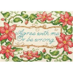 Dimensions Counted Cross Stitch Kit Mini Agree With Me