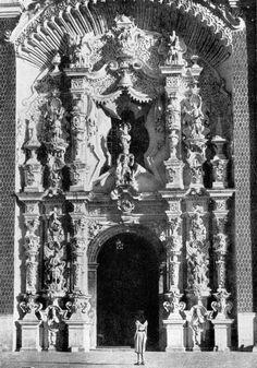 Святилище Окотлан в Тласкала. Ок. 1760 г. Портал.