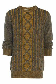 Mens Retro Cable Jumper £17.00 http://www.bravesoul.co.uk/shop/clothing/mens-retro-cable-jumper?colour=Charcoal #retro #mensfashion