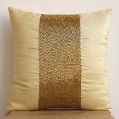Handmade Gold Throw Pillows Cover For Couch by TheHomeCentric