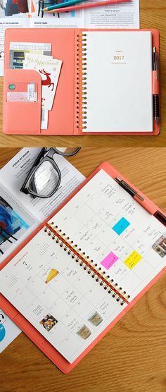 Classy, chic, and stylish! This beautiful 2017 planner comes in 6 colors, has 2 pockets, 1 pen holder, and 1 card slot. It's functionality is met with form, precisely in the way the planner is organized: Yearly, Monthly, & Weekly plans with 3 styles of notes - large grid, lined, and pink small grid. Already in love? So are we! Check out more about this planner on our site.