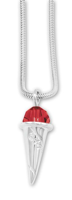 Sterling silver and Swarovski crystal sno-ball pendant at Mignon Faget.