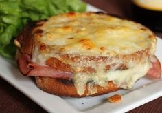 I'm ready for a dressed-up ham and cheese sandwich. The croque monsieur is a total comfort food sandwich. Warm cheese, salty ham, and tangy mustard. Delicious Sandwiches, Wrap Sandwiches, Serious Eats, Gluten Free Baking, Gluten Free Recipes, My Favorite Food, Favorite Recipes, Food Porn, Yummy Food