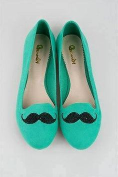 #mustache I need theses shoes. *~*Our Note*~*Goes with everything. Work-appropriate. #grownup #why