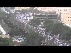 Bahrain, today: amazingly gigantic #protest against the forced #union with #KSA