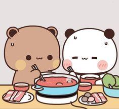 Chibi Panda, Chibi Cat, Cute Chibi, Panda Bear, Cute Cartoon Images, Cute Cartoon Wallpapers, Cute Images, Kawaii App, Frog Wallpaper