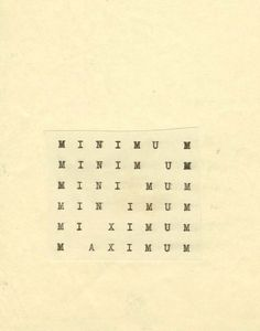 "roisinkiely: "" The Shape of Poetry: Carl Andre's Typed Works "" Design Graphique, Art Graphique, Typography Letters, Typography Design, Poema Visual, Web Design, Graphic Design, Fluxus, Dutch Artists"