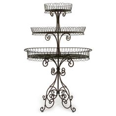 """Brown Wrought Iron 3-Tier Shelf by Imax, 239.00$ from 740$, *70% Wrought Iron/30% Tube Iron, from China, (63.5"""" x 41"""" x 21"""")"""