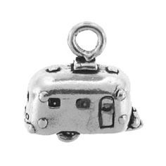10x7mm Sterling Silver Travel Trailer Charm | Fusion Beads