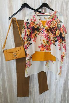 September 29th, 2014 - #floral #brights #ootd #colorful #fashion #style #sweetenvyboutique #Salinas #boutique