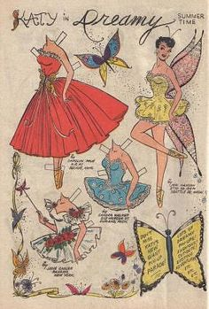 My mother was an artist and loved paper dolls. She would draw pin-up girl paper dolls and they looked a lot like Katy Keene. Missing Missy, Paper Art, Paper Crafts, Foam Crafts, Paper Dolls Printable, Vintage Paper Dolls, Paper Toys, Graphic, Faeries