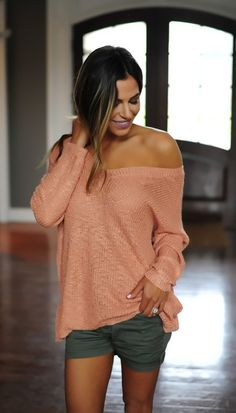 Dusty Rose Open Back Sweater - Dottie Couture Boutique