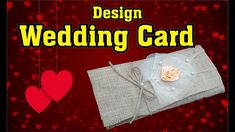 DIY - How to Design Wedding Card ||Invitation Card || Marriage Invites Marriage Invitation Wordings, Wedding Invitation Wording, Invites, Wedding Cards, Diy, Design, Wedding Ecards, Wedding Maps, Bricolage