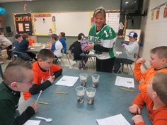 "Before spring break, Laker Elementary students in second and third grade enjoyed an after-school science club that met once a week for four weeks. They completed various experiments, including ""dancing"" raisins, making ""goo"" and what happens when you mix a solid, liquid and a gas for a special sweet and fizzy drink (pictured). Students filled out lab reports and discovered how fun science can truly be! The science club was organized by teacher Sandy Post and student teacher Nickol Shetler."