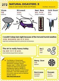 272 Learn Korean Hangul Natural Disasters 2