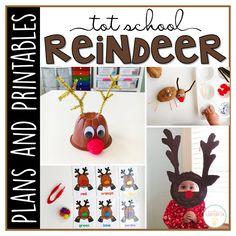 Tot School: Reindeer {Plans and Printables} Gross Motor Activities, Learning Activities, Preschool Classroom, Kindergarten, Preschool Printables, Action Cards, Curriculum Planning, Tot School, School Themes