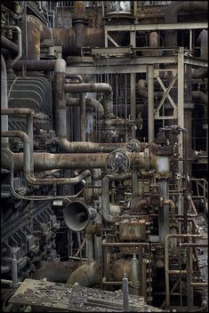 """""""Power Plant"""" by hoodwatch Abandoned Buildings, Abandoned Places, Abandoned Homes, Level Design, Arte Steampunk, Abandoned Factory, Industrial Machinery, Industrial Architecture, Historical Architecture"""