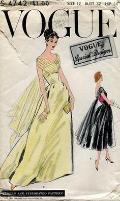 vintage evening gown pattern VSD S4742