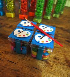 Caixinha acrílico - Tema Aquarela | Carolices Personalizados | Elo7 Art Birthday, 3rd Birthday Parties, Frozen Decorations, Pokemon Party, Paint And Sip, Graduation Party Decor, Rainbow Art, Child Doll, Art Party