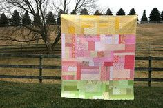 """Crazy mom Quilts, with her """"Lazy Summer Days"""" quilt.  The colors used evoke bright, sunny, warm days..."""