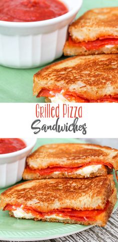 These Grilled Pizza Sandwiches are always a favorite. Tons of gooey melted mozza Mouth Watering Delicious Recipes Grill Sandwich, Pepperoni Sandwich, Sandwich Recipes, Lunch Recipes, Appetizer Recipes, Pizza Recipes, Sandwich Sides, Steak Sandwiches, Skillet Recipes