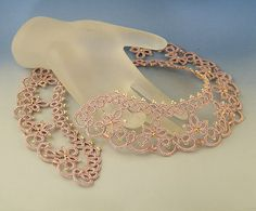 Venus necklace needle tatting kit and pattern by Happyland87