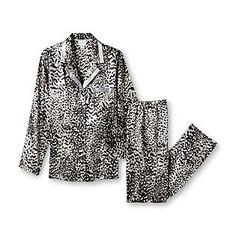 Jaclyn Smith- -Women's Pajama Top & Pants - Leopard Print