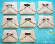 Dirty diaper cookies for a baby shower