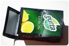 How to make a carton purse. DIY Tetra Pak Wallet - Step 4