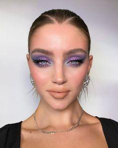 lilac purple and blue smokey eye shadow makeup look eyeliner Cute Makeup, Glam Makeup, Pretty Makeup, Skin Makeup, Makeup Art, Beauty Makeup, Makeup Eyeshadow, Glamour Makeup Looks, Metallic Makeup