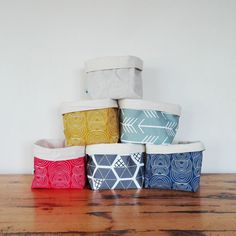 Fabric storage basket storage bin or gift by PipPottageDesigns $18 etsy