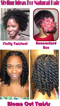 More natural hair styling ideas . . . Follow BHI on Facebook & Twitter too!  http://www.facebook.com/blackhairinformation https://twitter.com/#!/BlackHairInfo