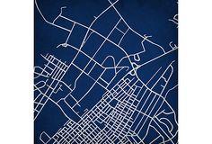 Penn State map art by City Prints