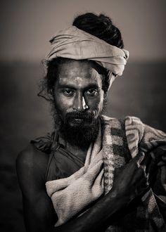 portraits noirs et blancs | Portraits en noir et blanc de l'Inde | Serge Bouvet, photographe
