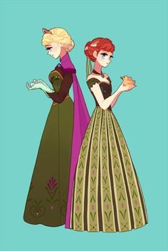 Frozen - Queen Elsa x Princess Anna - Elsanna Anna Frozen, Frozen Fan Art, Frozen Film, Disney Frozen, Frozen Queen, Anna Disney, Queen Elsa, Disney Films, Disney And Dreamworks