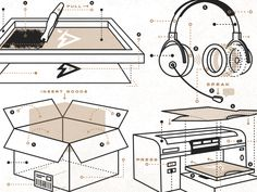 sneak peek at a series of diagram illustrations that will be used to showcase a clients capabilities