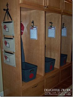 I would LOVE this, but how many average size homes have this much space at their front (or back) door? #need2winthelottery Delightful Order: Back to School Home Organization Ideas