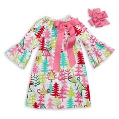 Here comes the Holiday's!    Bright Multi Christmas Tree Dress  kids* fashion* love*