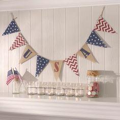 USA Burlap Banner | Kirklands