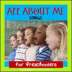 """This is a collection of children's songs and rhymes for the theme """"All About Me"""", for preschool and Kindergarten teachers, childcare providers and parents."""