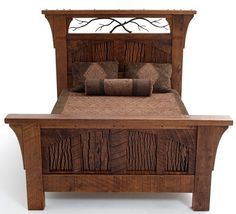 Rustic Bedroom Furniture, Log Bed, Mission Beds, Burl Wood Furnishings, Log Cabin Bedroom Furniture for-my-uber-rustic-cabin-in-the-mountains Barnwood Furniture, Mission Furniture, Bedroom Decor, Furniture, Rustic Bedroom Furniture, Rustic Furniture, Bed Design, Home, Log Cabin Bedroom Furniture