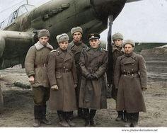 Моя колоризация колоризация, Великая Отечественная война, авиация, Photoshop