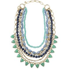 Stella & Dot Sutton Necklace - Green Stone ($178) ❤ liked on Polyvore featuring jewelry, necklaces, long strand necklace, long necklace, stone jewellery, green jewelry and stone necklace