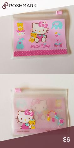 Hello Kitty pouch Cute Hello Kitty pouch. Small mark on front. Bundle with other hello kitty items and save :) Hello Kitty Bags