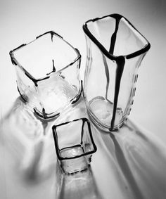 """From Karmen Saat, a glassware collection """"that grew from very quick sketches""""."""