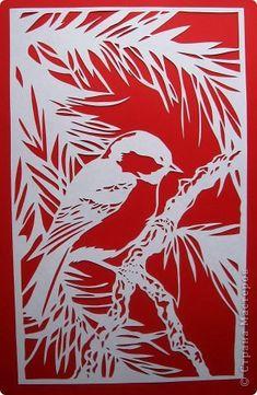 Картина панно рисунок Вырезание Птицы_Lois Cordelia Бумага фото 7