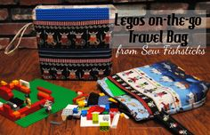 Lego Travel Bag~12 Handmade Holiday Ideas 2014 | Fishsticks Designs Blog