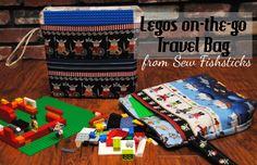Lego Travel Bag~12 Handmade Holiday Ideas 2014 | Fishsticks Designs Blog
