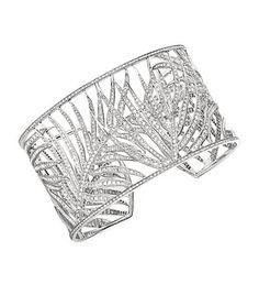 Theo Fennell Palm Diamond Cuff, 18kt white gold. l Harrods